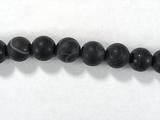Бусина из агата черного матового, шар гладкий 6мм