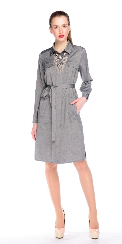 Платье З128-342 - Платье-рубашка универсальная и актуальная, уже не первый сезон, модель. Подходит практически для всех типов фигур. Ее можно одеть в офис, на встречу с друзьями, на прогулку. Платье-рубашку можно носить с поясом и без, как платье и как длинный жакет - с брюками, юбками - Проявив немного фантазии, вы получите много разных образов.
