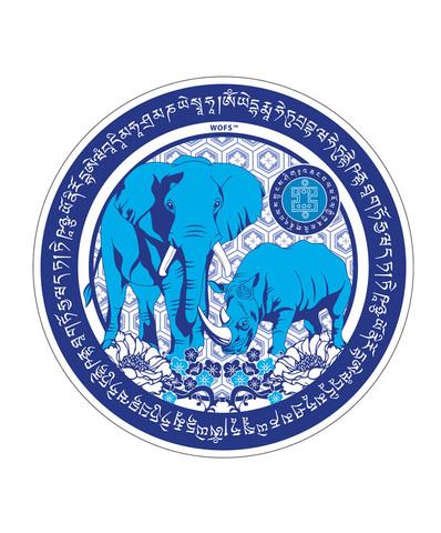 Наклейка Слон и носорог