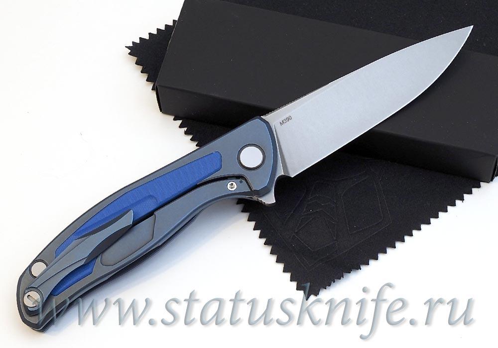 Нож Широгоров Флиппер 95 M390 накладка G10 подшипники - фотография