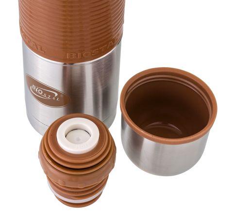Термос Biostal Flër (0,75 литра) с силиконовой вставкой, мокко