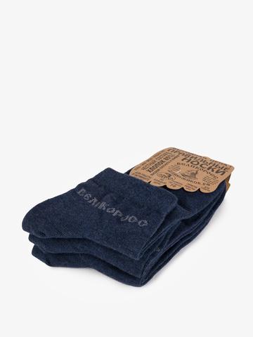 Мужские носки короткие тёмно-синего цвета – тройная упаковка