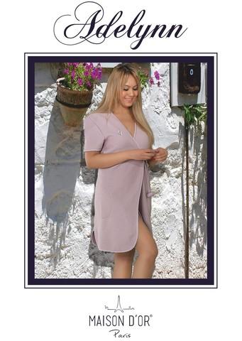 ADELYNN - АДЕЛИНН вафельно-махровый женский халат Maison Dor Турция