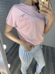 розовая футболка nadya