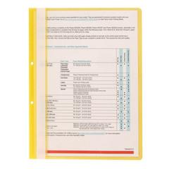 Скоросшиватель пластиковый с перфорацией Attache А4 до 100 листов желтый (толщина обложки 0.11/0.15 мм, 10 штук в упаковке)