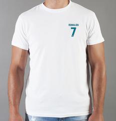 Футболка с принтом Криштиану Роналду (Cristiano Ronaldo) белая 0012