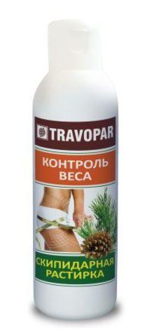 Скипидарная растирка Контроль веса Travopar 150 мл серии Сухие скипидарные ванны НИИ Натуротерапии