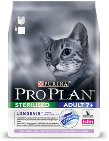 Purina PRO PLAN Sterilised 7+ с индейкой 3 кг