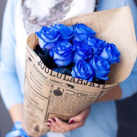 Розы синие от 9шт