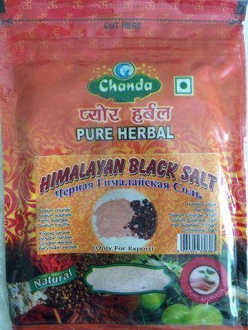 Чёрная соль, 100 г, Chanda (Индия)