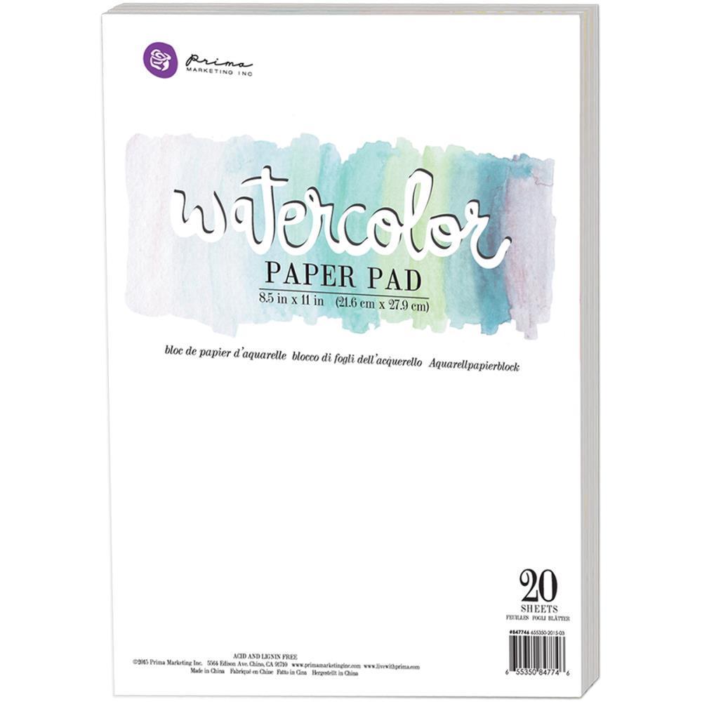 Альбом для акварели -Prima Marketing Watercolor Paper Pad 8.5