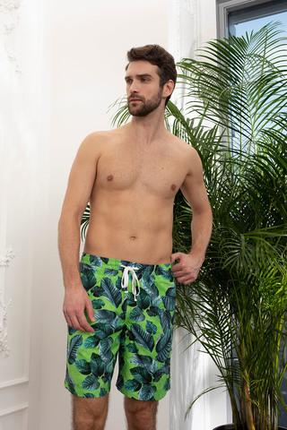 Мужские шорты 18180-2 зелёный Laete