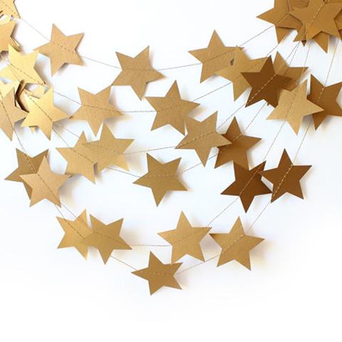 Гирлянда-подвеска Звезда, Золото