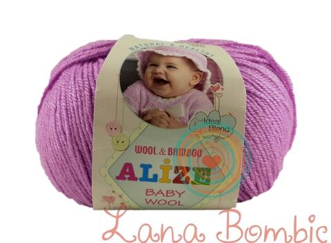 Пряжа Alize Baby Wool сиренево-розовый 672