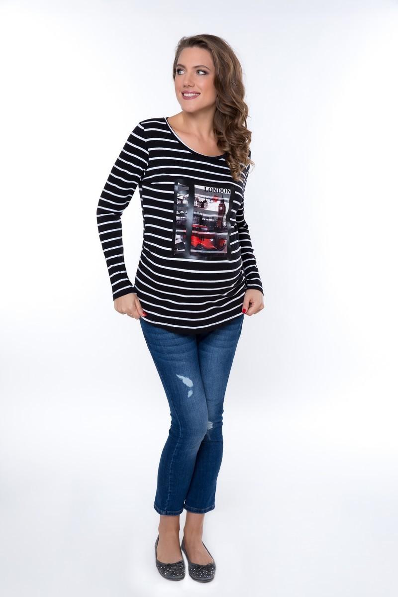 Блузка для беременных 08956 серый