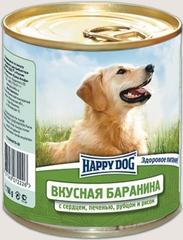 Консервы для собак Happy Dog Вкусная Баранина с печенью, сердцем, рубцом и рисом