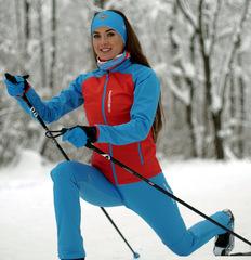 Утеплённый лыжный костюм Nordski Premium Red/Blue женский