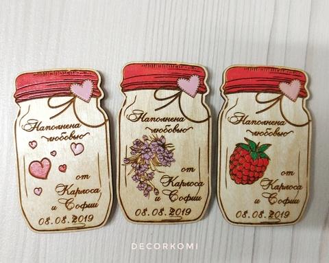 Свадебный магнит для сохранения даты и деревянный сувенир для гостей