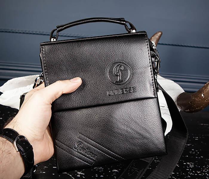 BAG560-1-2 Небольшая мужская сумка с ремнем на плечо фото 05