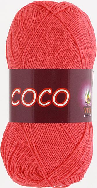 Пряжа Vita Coco 4308 розовый коралл