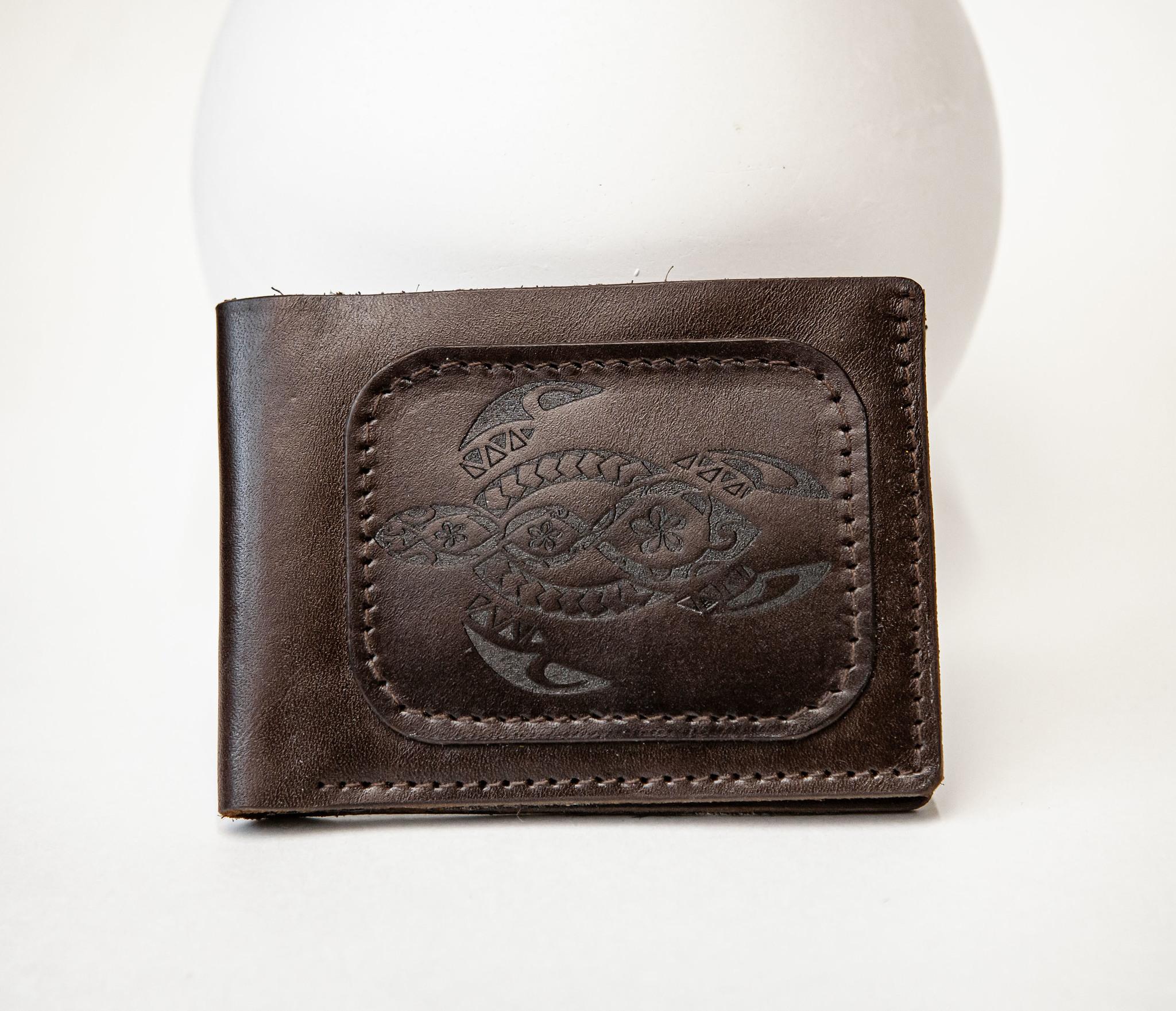 Boroda Design, Мужской кошелек с черепахой в полинезийском стиле, «Boroda Design»