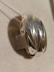 Конго 2,5 см. с узором (серьги из серебра)