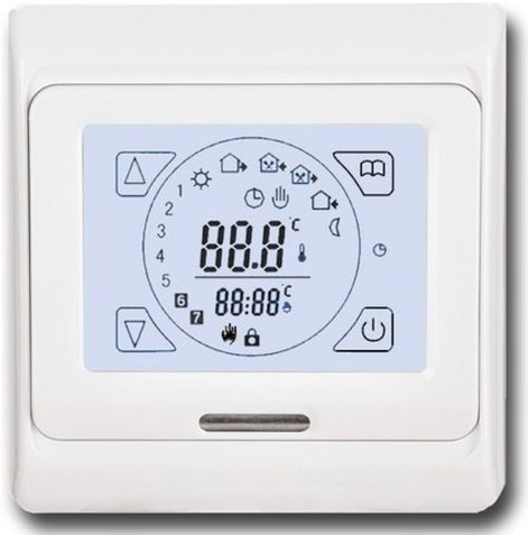 Терморегулятор для теплого пола Eastec (ИСТЭК) E91.716 Сенсорный Цвет: Белый. EASTEC E 91.716