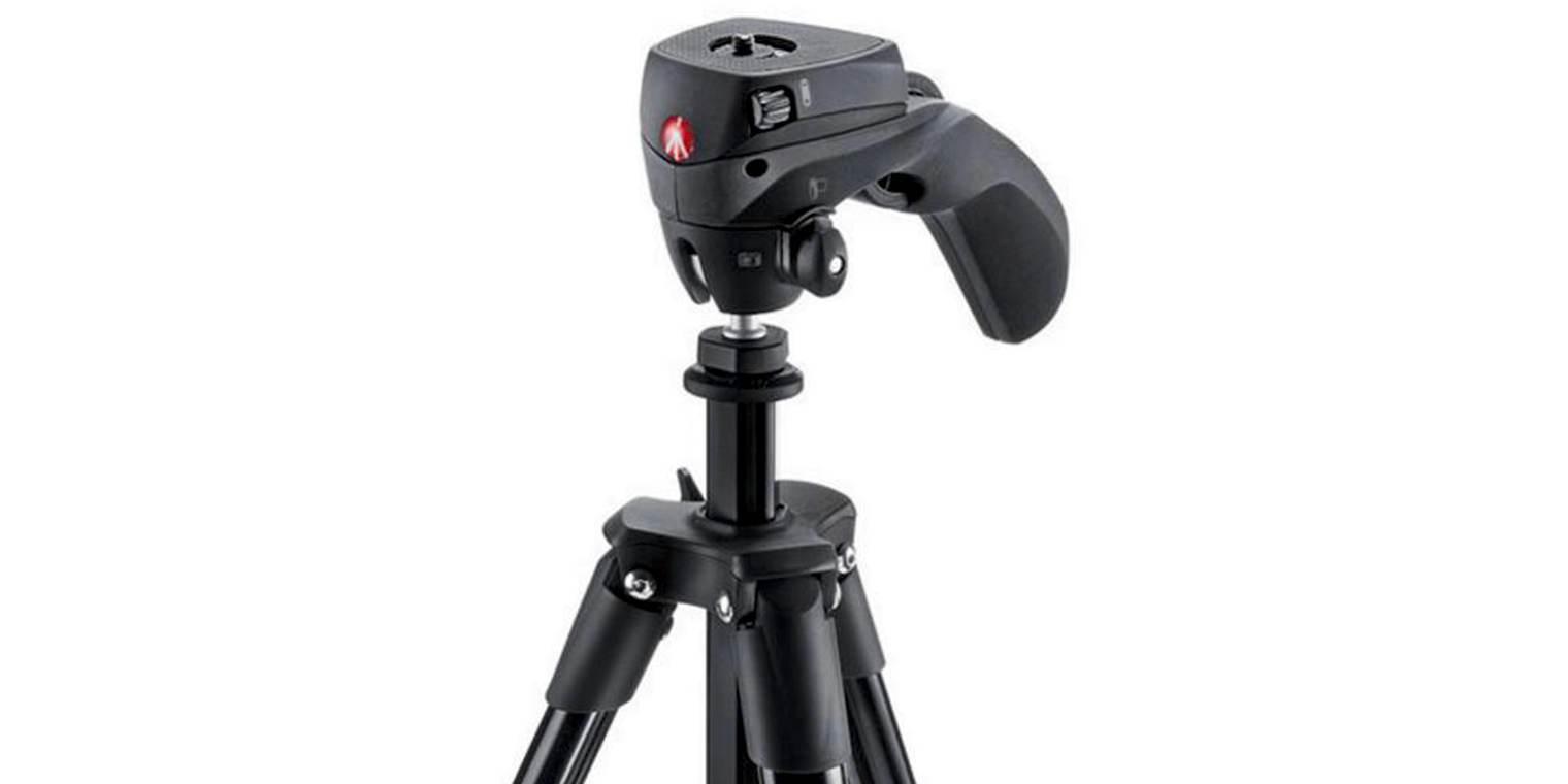 Штатив с фото- и видеоголовкой для фотокамеры Manfrotto Compact Action видеоголовка крупный план