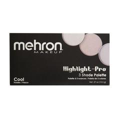 Mehron Палитра хайлайтеров Highlight-Pro 3 Color Palette-Cool