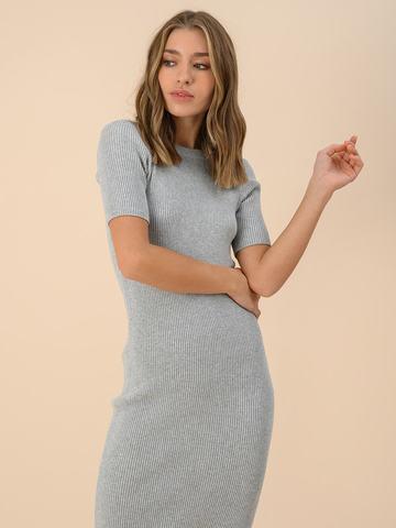 Женское платье цвета серый меланж из вискозы - фото 4