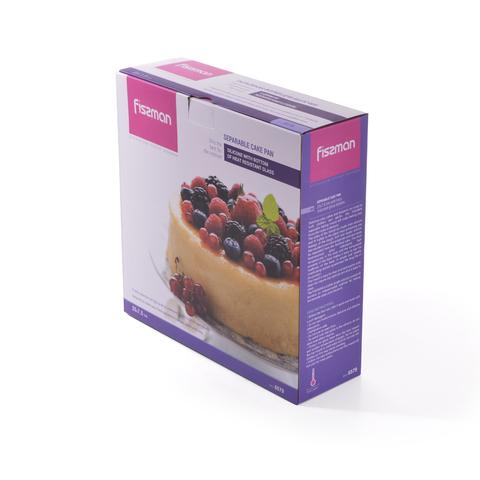 6579 FISSMAN Разъемная форма для выпечки 25x7,5 см ,силикон с дном из жаропрочного стекла,  купить