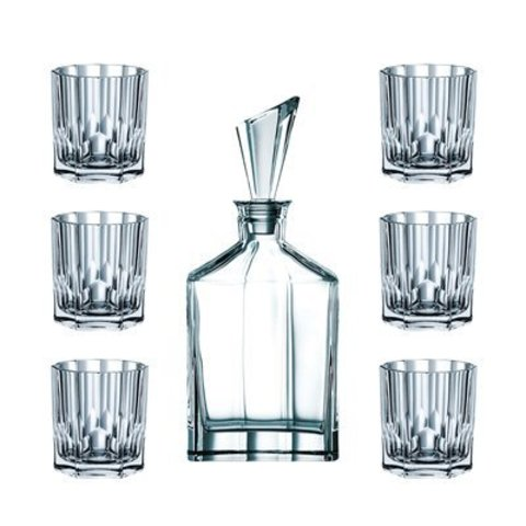 Набор для виски Nachtmann Aspen, декантер и 6 стаканов