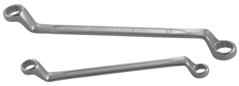 W232528 Ключ гаечный накидной изогнутый 75°, 25х28 мм
