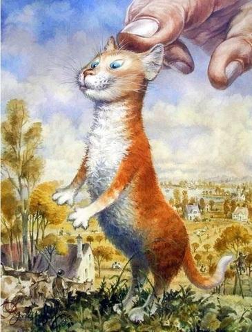 Алмазная Мозаика 30x40 Рыжий кот (арт. S2790)