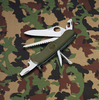 Нож Victorinox Military, 111 мм, 11 функций, зеленый