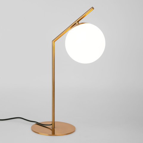 Настольная лампа со стеклянным плафоном 01082/1 латунь