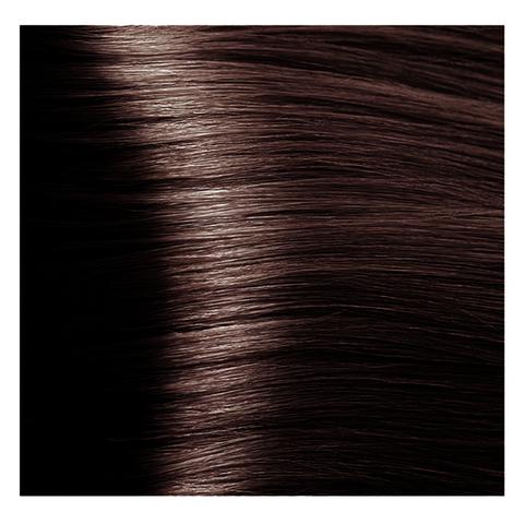 Крем краска для волос с гиалуроновой кислотой Kapous, 100 мл - HY 4.4 Коричневый медный