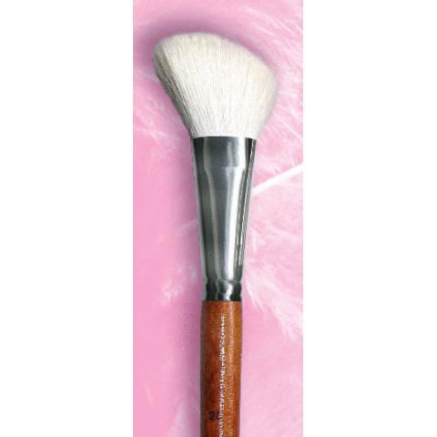 Кисть для румян для растушевки №20 / ворс белой козы / ручка цвета махагон / 801970120