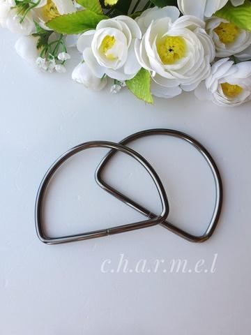 Ручки для сумок металл тёмный никель 10х8 см, 2 шт