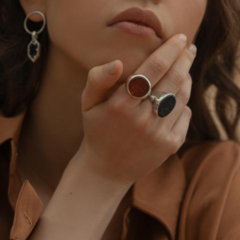 Кольцо-печатка с инталией 19 (сердолик, антик)