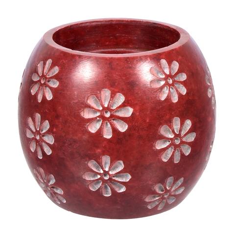 Испаритель эфирных масел и ароматизаторов и подсвечник «Цветы» из камня