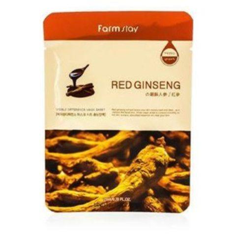 Тканевая маска с экстрактом корня красного женьшеня FarmStay