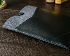 Фетровый конверт Gmakin с кнопкой для Macbook