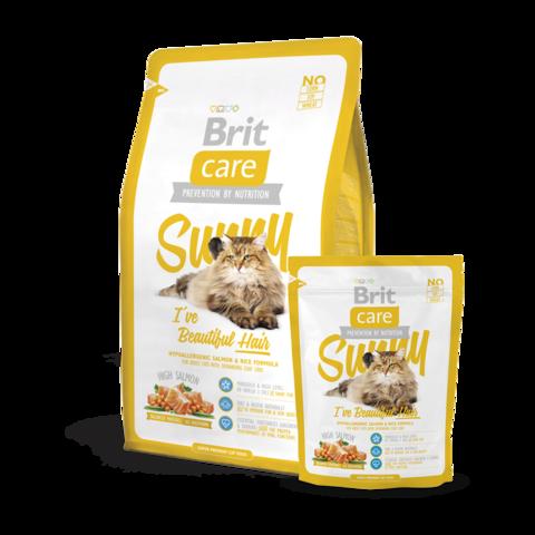 Brit Care Sunny Beautiful Hair Сухой корм для длинношерстых кошек