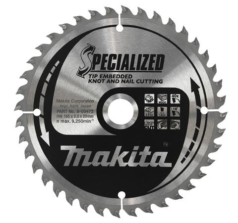 Диск Makita, для демонтажных работ 165х20х2 мм /16
