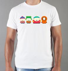Футболка с принтом мультфильма Южный парк (South Park) белая 001