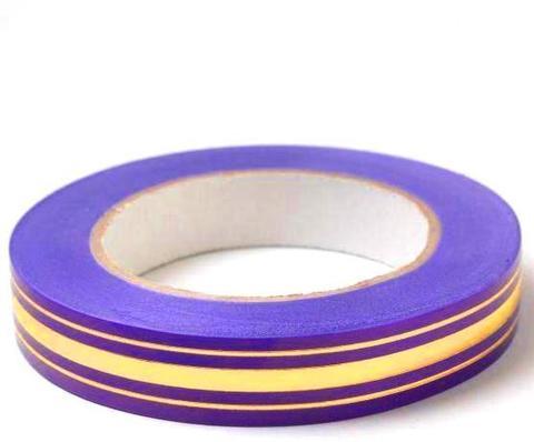 Лента золотая полоса BL (размер: 2 см х 50 ярдов) Цвет: фиолетовый