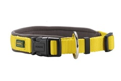 Ошейник для собак Hunter Neopren Vario Plus 55 (50-55)/2,5 см нейлон/неопрен желтый/бежевый