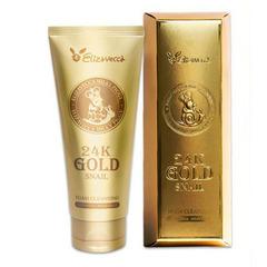 Elizavecca 24K Gold Snail Cleansing Foam - Пенка для умывания с муцином улитки и золотом