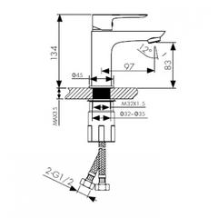 Смеситель KAISER Cezar 05011 для раковины схема